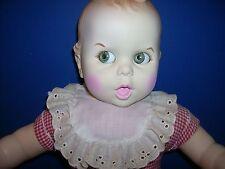 """Gerber Baby doll 1970's 17"""" Googley eyes no apron Clean Cuddly Box Tlc"""