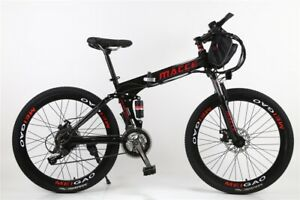 "Hot Sale  26"" 250W 21 Speed Electric Foldable Mountain City Bike W/ LCD Monitor"