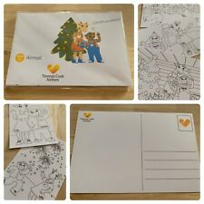 THOMAS COOK Postcards Limited Edition Christmas Pack 10 Colour In Cards Kids NEW