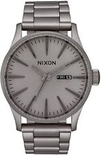 Nixon Men's Sentry SS A3563166-00 42mm Gray Dial Stainless Steel Watch