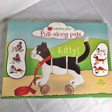 Applepie Pull-along Pals Kitty Pull Toy NIB fun nostalgic cat black white