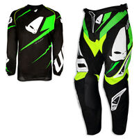 UFO Racing Kit Pant & Jersey 2016 Revolution Black/Green ADULT Motocross Enduro