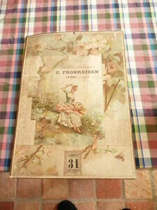 Calendar 1899 Stationery Print Froereisen With Epinal Paper Sealed