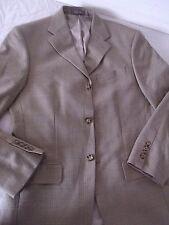Oscar De La Renta Blazer Sport Coat Suit Jacket WOOL 38R Beige Window Pane Y3