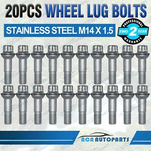 20x Stainless Steel Wheel Lug Bolts for Mercedes W221 W166 W251 X166 M14 x 1.5mm
