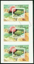 Zaire 1980 Tropical Fish SS imperf proof strip of 3 -1