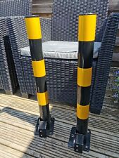 Parking Pole Foldable Security x 2 requires keys