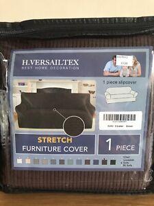 H - Versailtex Stretch 3 Seater Sofa Cover - Brown - New
