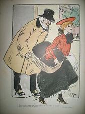 LE RIRE N° 019 CARICATURE HUMOUR DESSINS GUYDO BURRET SANCHA HERMANN WELY 1903