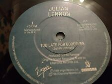 """JULIAN LENNON """" TOO LATE FOR GOODBYES """" 7"""" SINGLE EXCELLENT 1984"""