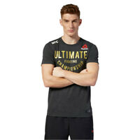 Reebok Mens UFC Fight Night Ultimate Jersey - Grey Sports Gym Breathable