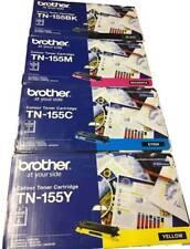 Brother TN155-BK/C/M/Y Genuine Toner Set TN-155BK,155C,155M,155Y Black,Cyan,M.Y