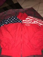 Vntg 80-90s Pacific Bell Stars And Stripes Jacket USA Made Xl Olympic 4th July