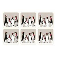 6 Stück Sara Miller London Coasters Untersetzer Mehrfarbig