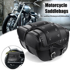 2X Motorcycle Luggage Saddle Bags Waterproof For Harley Sportster XL883 1200 AU
