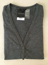 Topshop Long Cardigan in 'Grey' (UK 8) (RRP £15) 34% Disc