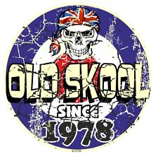 Distressed Aged OLD SKOOL Since 1978 Mod Style Target Motorcycle car sticker