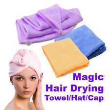 Fast dryer turban cheveux séchage serviette microfibre bath P1
