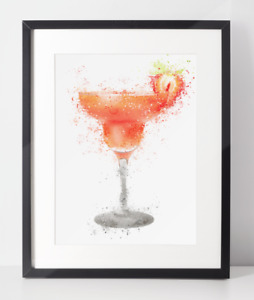 Gin Poster | Room Decor | Wall Art Print | Gift Idea | A4 & A3 | Cocktail Glass