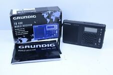 GRUNDIG YB400 YACHT BOY WORLD RECEIVER AM/FM/SW w/ BAG Very Good Condition