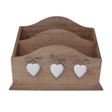 Shabby Chic Wooden Hearts Letter Rack 27cm