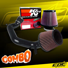 03-06 Honda Accord 2.4L 4cyl Black Cold Air Intake + K&N Air Filter