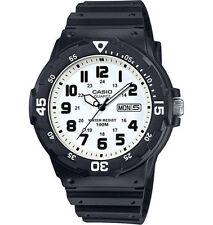 Casio Mrw200h-7bv Men's Black Resin Strap 100m Sports Easy Reader Analog Watch
