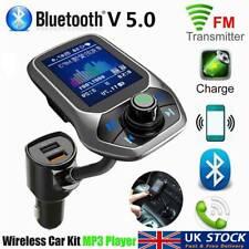 Wireless Bluetooth Car Kit FM Transmitter MP3 USB Handsfree For Mobiles UK