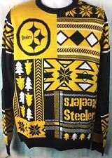 NWT NFL PITTSBURGH STEELERS Black & Yellow SKI SWEATER Size Small