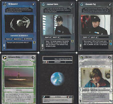 6 Cards Star Wars Customizable Card Game Ccg-exactly on the scan 7