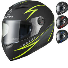 Agrius Rage Fuse Motorcycle Helmet Full Face Scooter Motorbike Crash Full Face