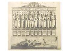 1 Orig Kupferstich J.C.v.Dreyhaupt 1755  PETERSBERG GA