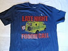 """Jack In The Box """"Late Night Foodie Call"""" Navy t-shirt"""