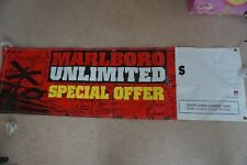 MARLBORO CIGARETTES STORE DISPLAY ADVERTISEMENT BANNER VINYL unlimited black