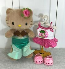 "💜 Build A Bear Tan Hello Kitty Plush 17"" Tall Mermaid and Hawaii outfit 💜"