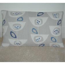 "20""x12"" Oblong Bolster Cushion Cover John Lewis Seedheads Blue Silver Grey NEW"