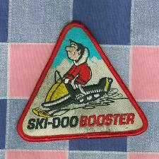 Vintage Ski-Doo Booster Patch Diamond Shape  3 Inch High Note Smudging