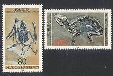 Germania 1978 FOSSILI/pipistrelli/Cavalli/Animali/NATURA/animali selvatici 2 V Set (n35331)