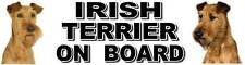IRISH TERRIER ON BOARD Dog Car Sticker By Starprint