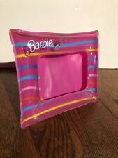 Barbie Picture Photo frame 1998 Mattel Inflatable Pink Rare