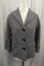 Brooks Brothers 346 Womens Jacket Coat Sz 8 Houndstooth Blazer Wool Suit Dress