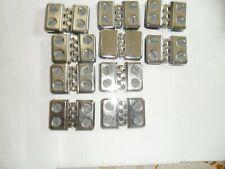 Lot Of 10 Chrome Glass Shelf Hinge Connector Showcase Bracket Bin Obo