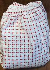 Martha Stewart Red Diamond Diamonds CAL KING FITTED Sheet 220 TC