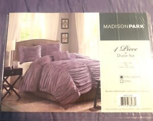 Brand New MADISON PARK Purple 4 Piece Duvet Set Full/Queen