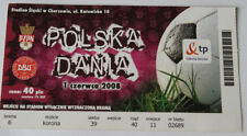 Ticket for collectors * Poland - Denmark 2008 in Chorzow