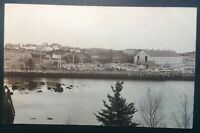 Mint Vintage Lumberyard Dock Panorama Printed Photo Postcard