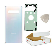 Replacement Fit Samsung Galaxy S10 G970 - Prism White Back Glass Battery Cover