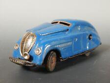 SCHUCO KOMMANDO ANNO 2000 BLUE Germany 5 1/2 inch Wind Up Toy Car