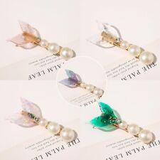 Women Fashion Mermaid Pearl Bling Hair Clip Barrette  Bobby Hair Accessories