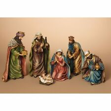 """DELUXE HAND PAINTED 11"""" 6 PIECE RESIN NATIVITY SET CHRISTMAS HOLIDAY DECOR"""
